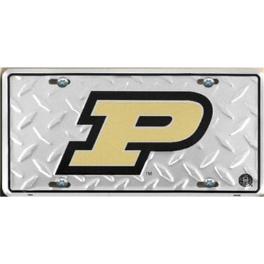 Purdue Boilermakers Diamond Plate Auto Tag