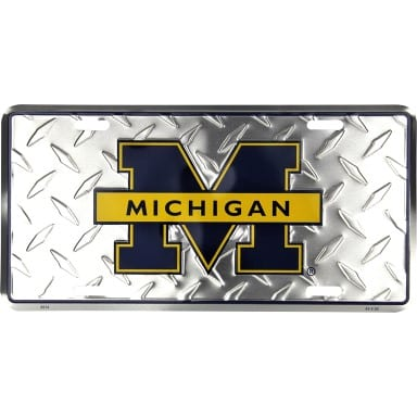 Michigan Wolverines Merchandise - Diamond Plate Auto Tag