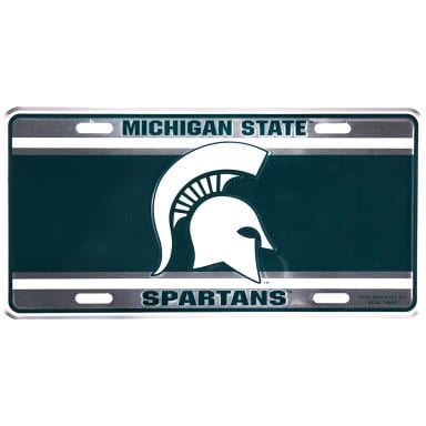 Michigan State Spartans Merchandise - Green License Plate