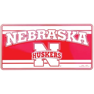Nebraska Cornhuskers Merchandise - License Plate