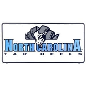North Carolina Tar Heels Mascot License Plate