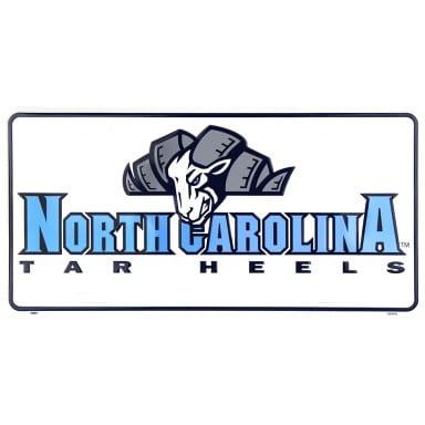 North Carolina Tar Heels Mascot License Plate
