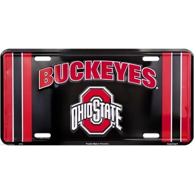 Ohio State Buckeyes Merchandise - Black License Plate