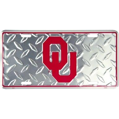 Oklahoma Sooners Merchandise - Diamond Plate Auto Tag