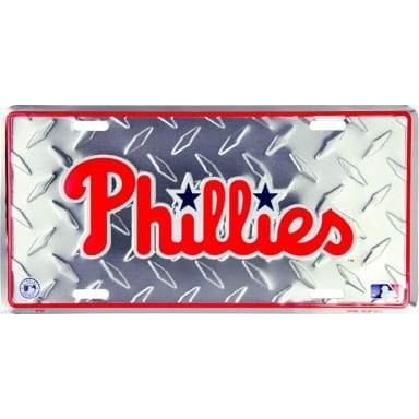 Philadelphia Phillies Diamond Plate License Plate