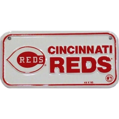 Cincinnati Reds Bike License Plate