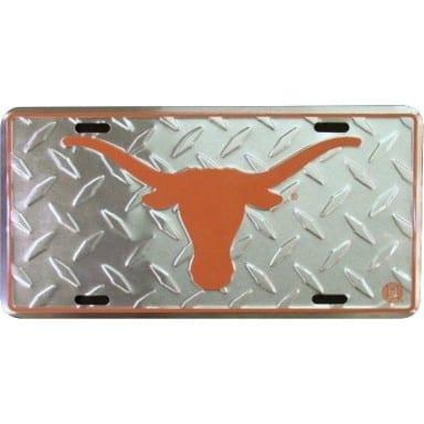 Texas Longhorns Merchandise - Diamond Plate Auto Tag