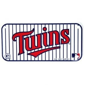 Minnesota Twins Bike License Plate