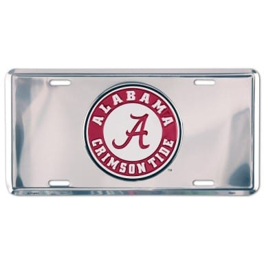 Alabama Crimson Tide Chrome License Plate
