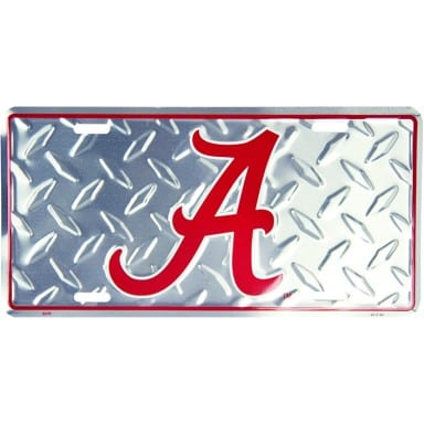 Alabama Crimson Tide Merchandise - Diamond Plate Auto Tag