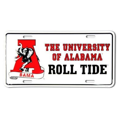 Alabama Crimson Tide Merchandise - Roll Tide License Plate