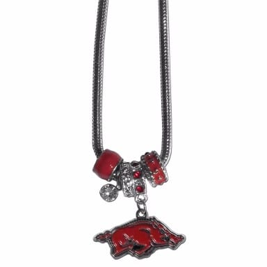 Arkansas Razorbacks Merchandise - Euro Bead Necklace