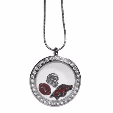 Arkansas Razorbacks Merchandise - Floating Charm Locket Necklace