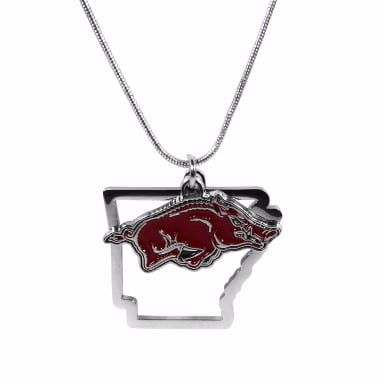 Arkansas Razorbacks Home State Charm Necklace