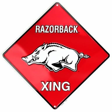 Arkansas Razorbacks Merchandise - Crossing Sign