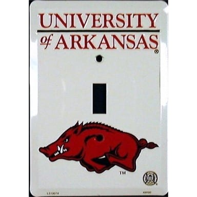 Arkansas Razorbacks Merchandise - Light Switch Cover