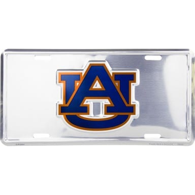 Auburn Tigers Merchandise - Chrome License Plate