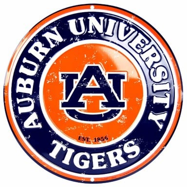Auburn Tigers Merchandise - Circle Sign