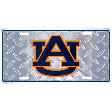 Auburn Tigers Merchandise - Diamond Plate Auto Tag
