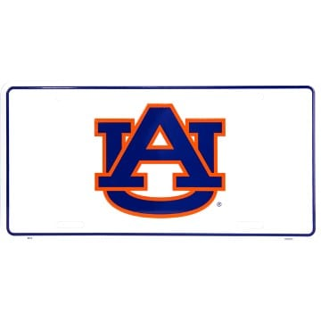 Auburn Tigers Merchandise - White License Plate