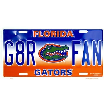 Florida Gators Merchandise - G8R FAN License Plate