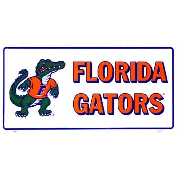 Florida Gators Merchandise - Mascot White License Plate
