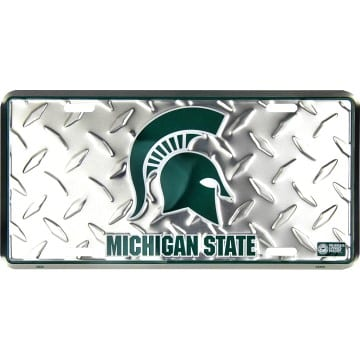 Michigan State Spartans Merchandise - Diamond Plate Auto Tag