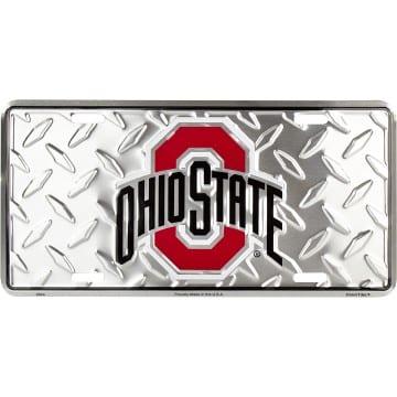 Ohio State Buckeyes Merchandise - Diamond Plate Auto Tag