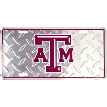 Texas A&M Aggies Merchandise - Diamond Plate Auto Tag