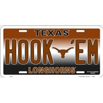 Texas Longhorns Merchandise - HOOK EM License Plate