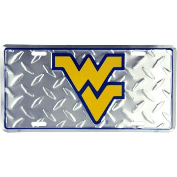 WVU Mountaineers Merchandise - Diamond Plate Auto Tag