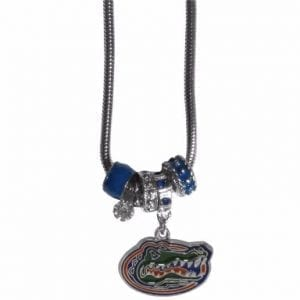 Florida Gators Euro Bead Necklace