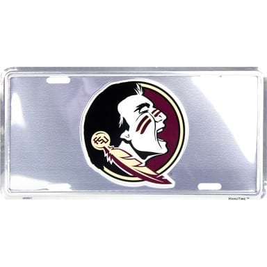 Florida State Seminoles Merchandise - Chrome License Plate