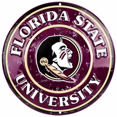 Florida State Seminoles Circle Sign
