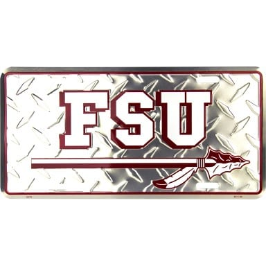 Florida State Seminoles Diamond Plate Auto Tag