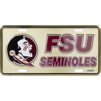 Florida State Seminoles Merchandise - License Plate