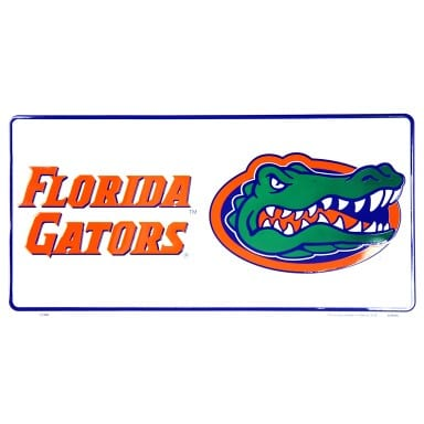 Florida Gators Merchandise - White License Plate