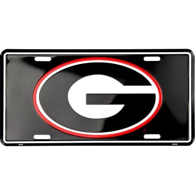 Georgia Bulldogs Merchandise - Black License Plate