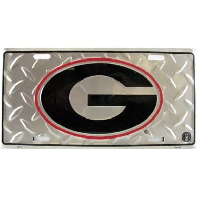 Georgia Bulldogs Merchandise - Diamond Plate Auto Tag