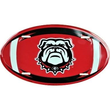 Georgia Bulldogs Merchandise - Oval License Plate