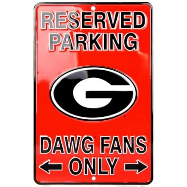 Georgia Bulldogs Merchandise - Parking Sign