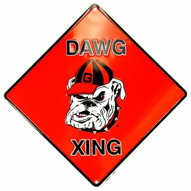 Georgia Bulldogs Merchandise - Crossing Sign