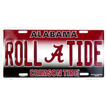 Alabama Crimson Tide Roll Tide Merchandise - Auto Tag