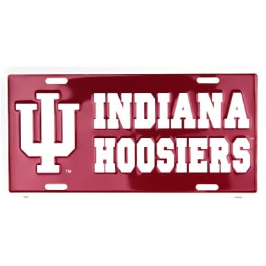 Indiana Hoosiers Merchandise - Burgundy License Plate