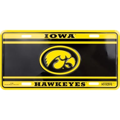 Iowa Hawkeyes Merchandise - License Plate