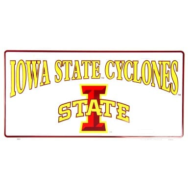 Iowa State Cyclones Merchandise - White License Plate