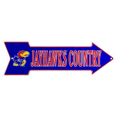 Kansas Jayhawks Merchandise - Arrow Sign