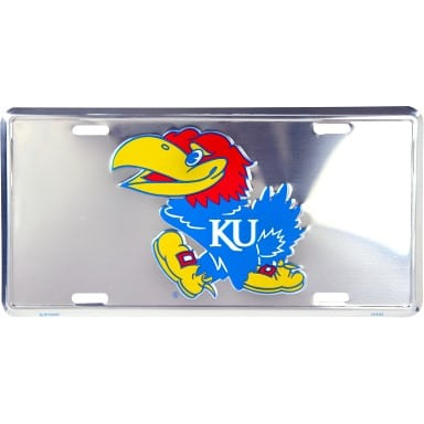 Kansas Jayhawks Merchandise - Chrome License Plate