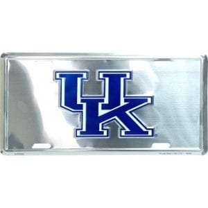 Kentucky Wildcats Chrome License Plate
