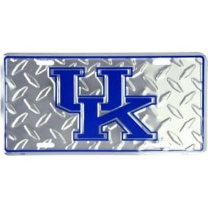 Kentucky Wildcats Diamond Plate Auto Tag